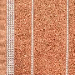 Ręcznik z bawełny ze sznurkowym zdobieniem 70x140cm - 70x140 - pomarańczowy 3