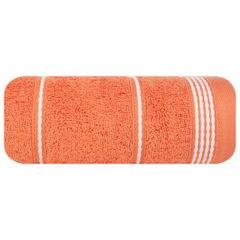 Ręcznik z bawełny ze sznurkowym zdobieniem 70x140cm - 70 X 140 cm - pomarańczowy 2