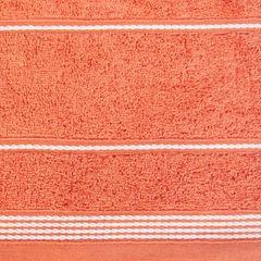 Ręcznik z bawełny ze sznurkowym zdobieniem 70x140cm - 70 X 140 cm - pomarańczowy 4