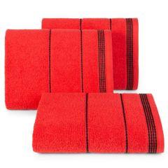 Ręcznik z bawełny ze sznurkowym zdobieniem 50x90cm - 50 X 90 cm - czerwony 1