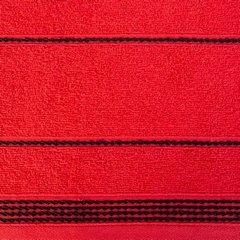 Ręcznik z bawełny ze sznurkowym zdobieniem 50x90cm - 50 X 90 cm - czerwony 5