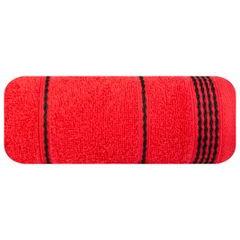 Ręcznik z bawełny ze sznurkowym zdobieniem 50x90cm - 50 X 90 cm - czerwony 2