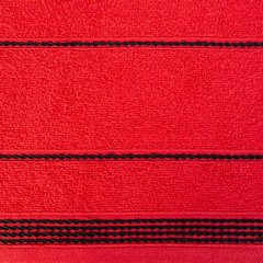 Ręcznik z bawełny ze sznurkowym zdobieniem 70x140cm - 70 X 140 cm - czerwony 9