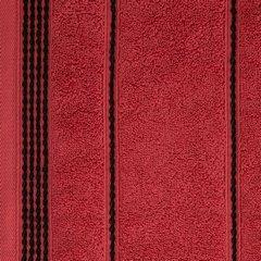 Ręcznik z bawełny ze sznurkowym zdobieniem 70x140cm - 70x140 - czerwony 3