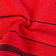 Ręcznik z bawełny ze sznurkowym zdobieniem 70x140cm - 70x140 - czerwony 4
