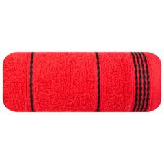 Ręcznik z bawełny ze sznurkowym zdobieniem 70x140cm - 70 X 140 cm - czerwony 2