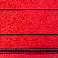 Ręcznik z bawełny ze sznurkowym zdobieniem 70x140cm - 70 X 140 cm - czerwony 4