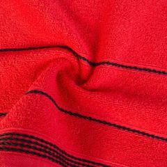Ręcznik z bawełny ze sznurkowym zdobieniem 70x140cm - 70x140 - czerwony 2