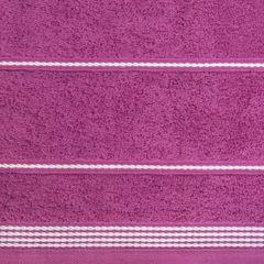 Ręcznik z bawełny ze sznurkowym zdobieniem 50x90cm - 50 X 90 cm - fioletowy 5