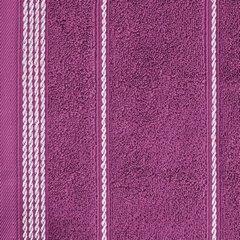 Ręcznik z bawełny ze sznurkowym zdobieniem 50x90cm - 50 X 90 cm - fioletowy 7