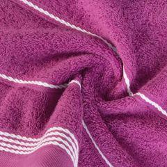 Ręcznik z bawełny ze sznurkowym zdobieniem 50x90cm - 50 X 90 cm - fioletowy 8