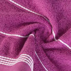 Ręcznik z bawełny ze sznurkowym zdobieniem 50x90cm - 50 X 90 cm - fioletowy 2