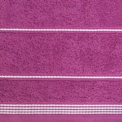 Ręcznik z bawełny ze sznurkowym zdobieniem 70x140cm - 70 X 140 cm - fioletowy 5