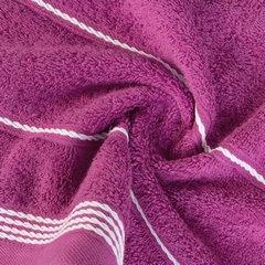 Ręcznik z bawełny ze sznurkowym zdobieniem 70x140cm - 70 X 140 cm - fioletowy 7