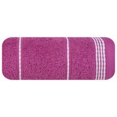 Ręcznik z bawełny ze sznurkowym zdobieniem 70x140cm - 70 X 140 cm - fioletowy 2