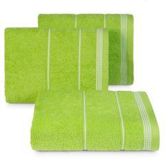 Ręcznik z bawełny ze sznurkowym zdobieniem 70x140cm - 70 X 140 cm - zielony 1