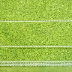 Ręcznik z bawełny ze sznurkowym zdobieniem 70x140cm - 70 X 140 cm - zielony 5