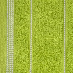 Ręcznik z bawełny ze sznurkowym zdobieniem 70x140cm - 70 X 140 cm - zielony 6