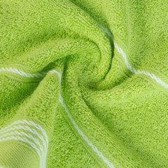 Ręcznik z bawełny ze sznurkowym zdobieniem 70x140cm - 70 X 140 cm - zielony 7