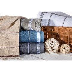 Ręcznik z bawełny ze sznurkowym zdobieniem 70x140cm - 70 X 140 cm - zielony 8