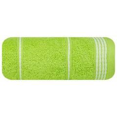 Ręcznik z bawełny ze sznurkowym zdobieniem 70x140cm - 70 X 140 cm - zielony 2