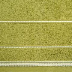 Ręcznik z bawełny ze sznurkowym zdobieniem 50x90cm - 50 X 90 cm - oliwkowy 5