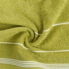 Ręcznik z bawełny ze sznurkowym zdobieniem 50x90cm - 50 X 90 cm - oliwkowy 7