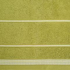 Ręcznik z bawełny ze sznurkowym zdobieniem 50x90cm - 50 X 90 cm - oliwkowy 4