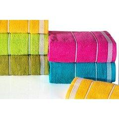 Ręcznik z bawełny ze sznurkowym zdobieniem 50x90cm - 50 X 90 cm - oliwkowy 8