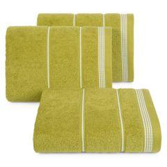 Ręcznik z bawełny ze sznurkowym zdobieniem 70x140cm - 70 X 140 cm - oliwkowy 1