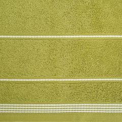 Ręcznik z bawełny ze sznurkowym zdobieniem 70x140cm - 70 X 140 cm - oliwkowy 5