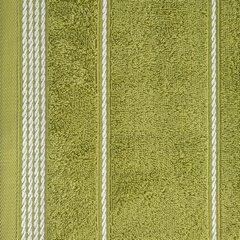 Ręcznik z bawełny ze sznurkowym zdobieniem 70x140cm - 70 X 140 cm - oliwkowy 7