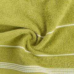 Ręcznik z bawełny ze sznurkowym zdobieniem 70x140cm - 70 X 140 cm - oliwkowy 8
