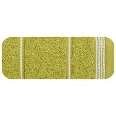 Ręcznik z bawełny ze sznurkowym zdobieniem 70x140cm - 70 X 140 cm - oliwkowy 2