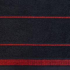 Ręcznik z bawełny ze sznurkowym zdobieniem 30x50cm - 30 X 50 cm - czarny 9