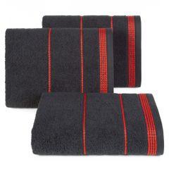 Ręcznik z bawełny ze sznurkowym zdobieniem 50x90cm - 50 X 90 cm - czarny 1