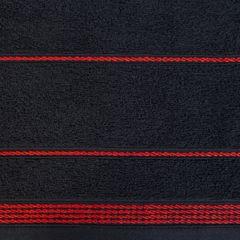 Ręcznik z bawełny ze sznurkowym zdobieniem 50x90cm - 50 X 90 cm - czarny 4