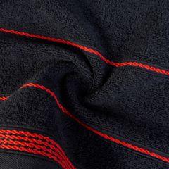 Ręcznik z bawełny ze sznurkowym zdobieniem 50x90cm - 50 X 90 cm - czarny 5