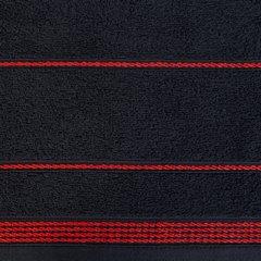Ręcznik z bawełny ze sznurkowym zdobieniem 70x140cm - 70 X 140 cm - czarny 5
