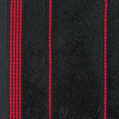 Ręcznik z bawełny ze sznurkowym zdobieniem 70x140cm - 70 X 140 cm - czarny 6