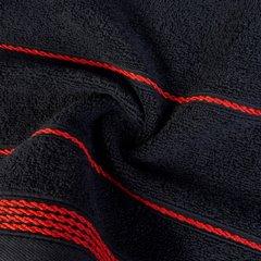 Ręcznik z bawełny ze sznurkowym zdobieniem 70x140cm - 70 X 140 cm - czarny 7
