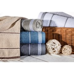 Ręcznik z bawełny ze sznurkowym zdobieniem 70x140cm - 70 X 140 cm - czarny 8