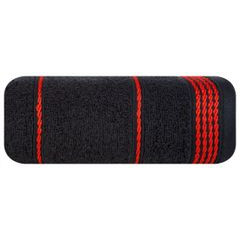 Ręcznik z bawełny ze sznurkowym zdobieniem 70x140cm - 70 X 140 cm - czarny 2