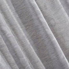 Zasłona w stylu eco subtelny roślinny wzór ukryte szelki 140x250cm - 140x250 - szary / biały 2