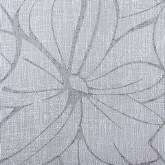 Zasłona popielata z kwiatowym wzorem 140x250 cm szelki - 140 X 250 cm - stalowy 4