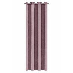 Zasłona pionowe pasy nowoczesna fiolet przelotki 140x250cm - 140 X 250 cm - fioletowy 4