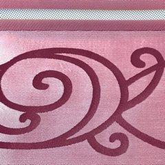 LISA AMARANTOWA ZASŁONA Z ORGANTYNY W PASY 140x250 cm NA PRZELOTKACH - 140 X 250 cm - amarantowy/różowy 3