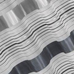 Zasłona w poziome srebrne pasy organza+atłas przelotki 140x250cm - 140 X 250 cm - stalowy 1