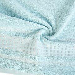 Ręcznik z haftowaną bordiurą w kosteczki błękitny 50x90 cm - 50 X 90 cm - niebieski 8