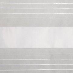 Zasłona w poziome białe pasy organza+atłas przelotki 140x250cm - 140x250 - biały 3